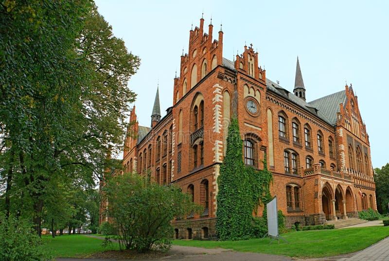 Le bâtiment gothique photo libre de droits