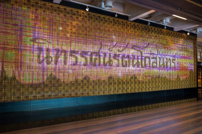Le bâtiment intérieur de l'exposition hall de Rattanakosin à Bangkok, Thaïlande photographie stock