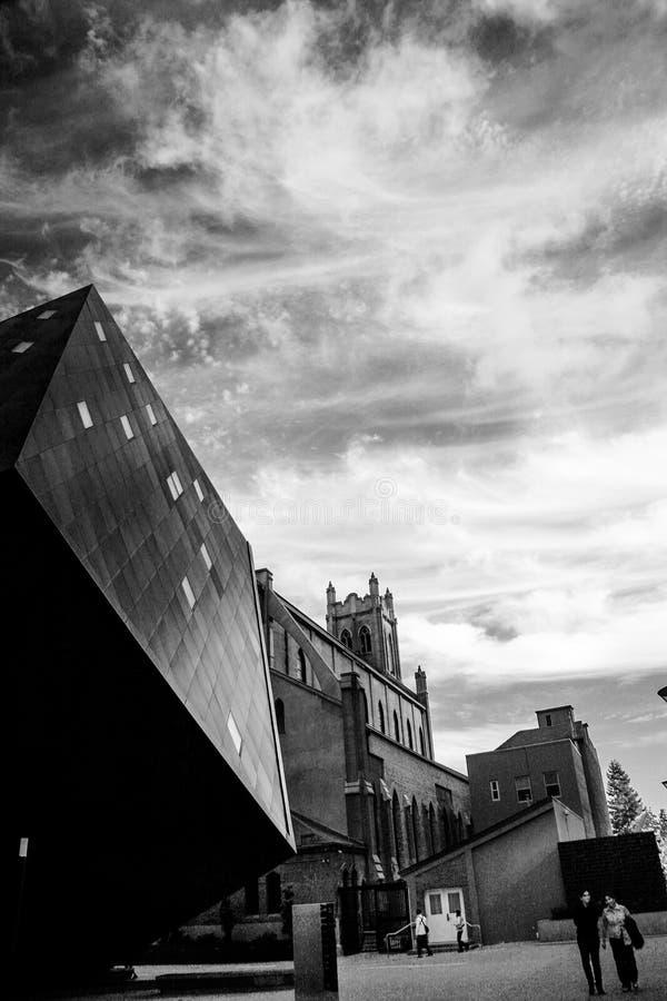 Le bâtiment juif contemporain de musée à San Francisco photographie stock