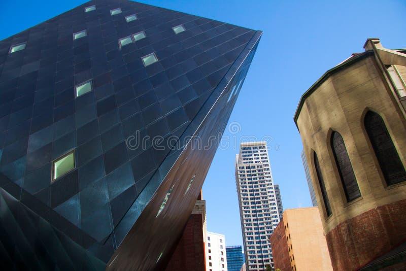 Le bâtiment juif contemporain de musée à San Francisco Ddesigned par l'architecte Daniel Libeskind image stock