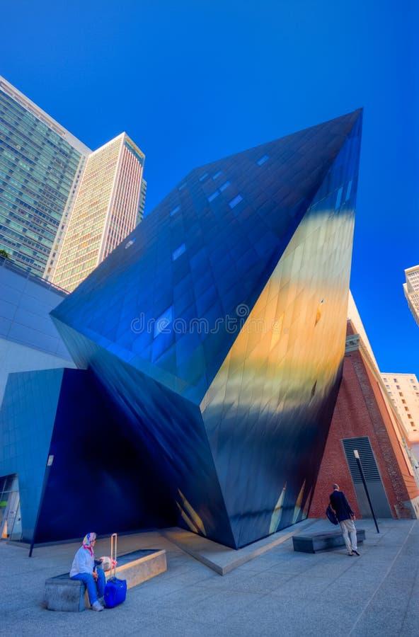 Le bâtiment juif contemporain de musée photos libres de droits