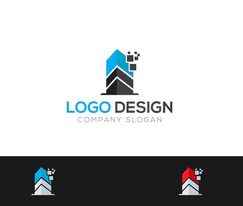 Le bâtiment Logo Template dirige l'illustration illustration libre de droits