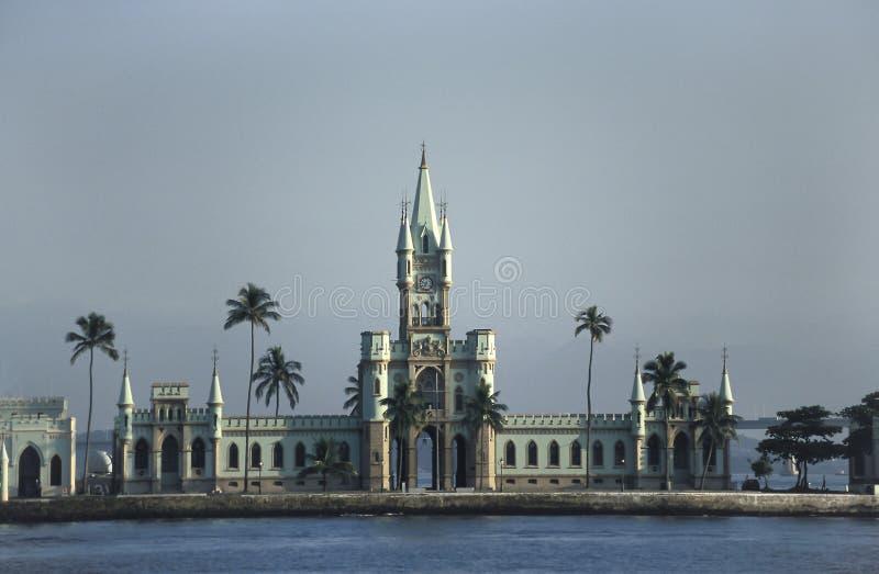 Le bâtiment Ne-gothique de l'Ilha fiscal en Rio de Janeiro, Br photographie stock libre de droits