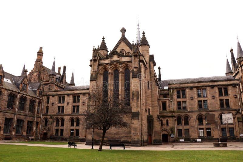 Le bâtiment principal de l'université de Glasgow photo libre de droits