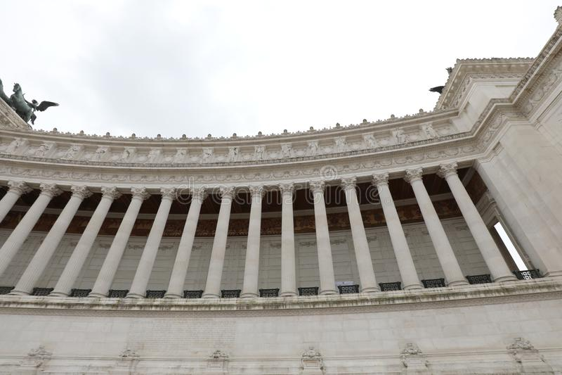 le bâtiment très grand a appelé le della Patria d'Altare à Rome Italie photographie stock