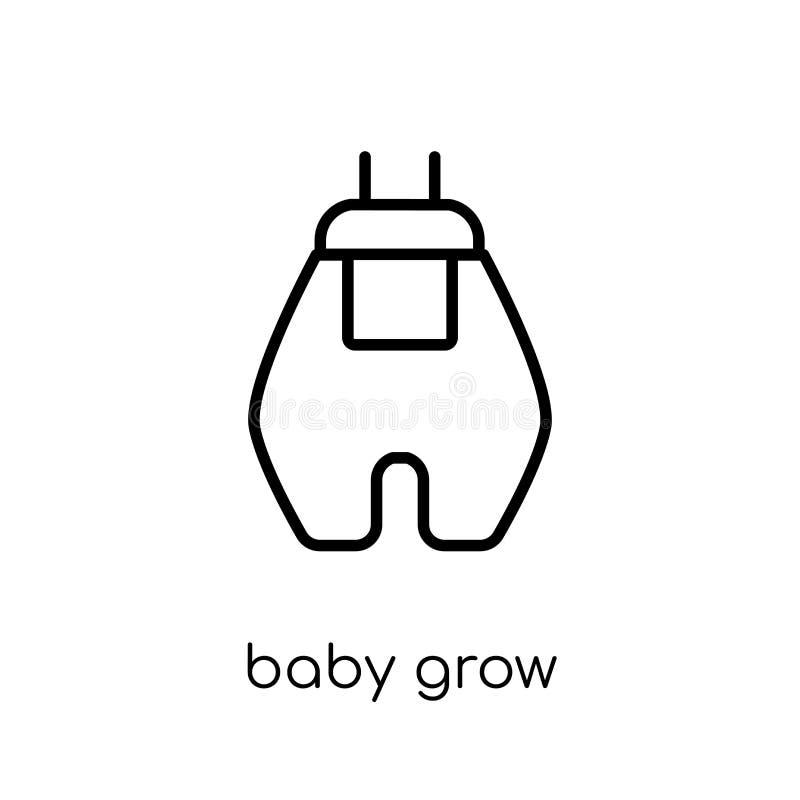 Le bébé élèvent l'icône du bébé élèvent la collection illustration de vecteur