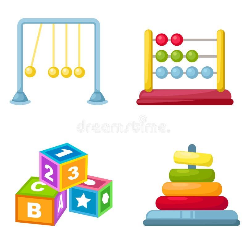 Download Le bébé joue le vecteur illustration de vecteur. Illustration du dessus - 45364135