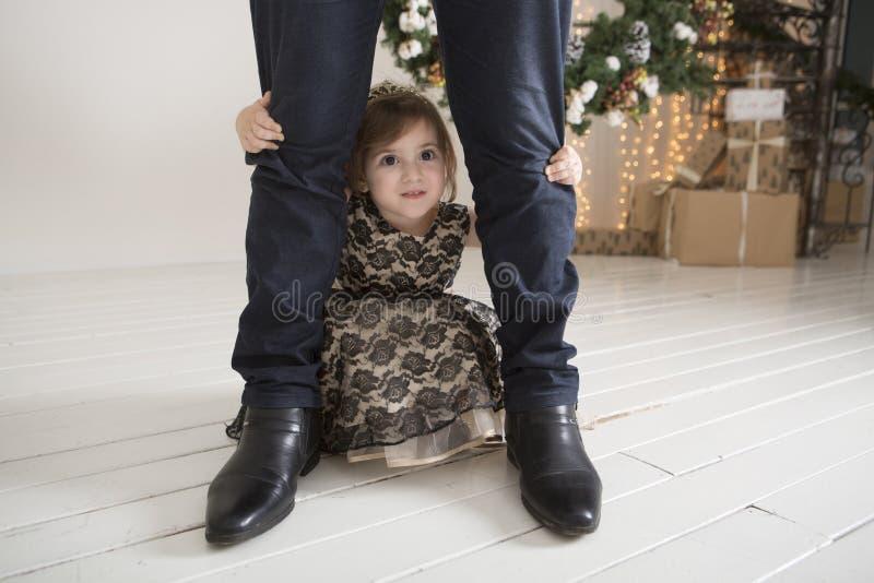 Le bébé sur Noël image libre de droits
