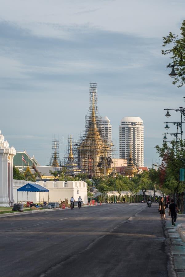 Le bûcher funèbre royal pour le Roi Bhumibol Adulyadej photographie stock libre de droits