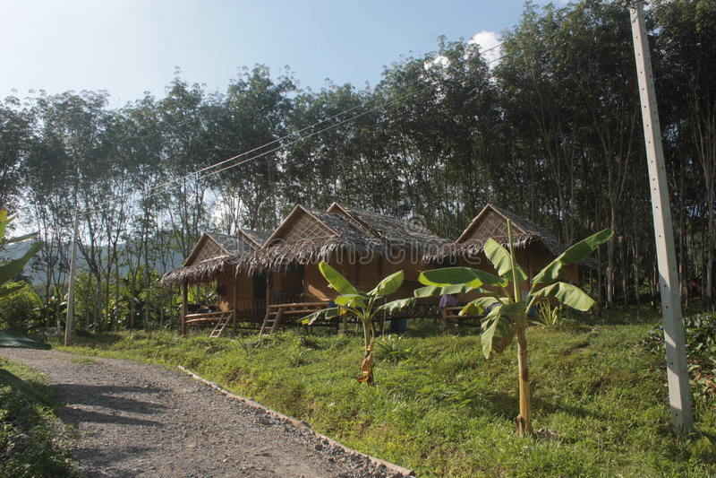 Le Ba, huent des huttes images libres de droits