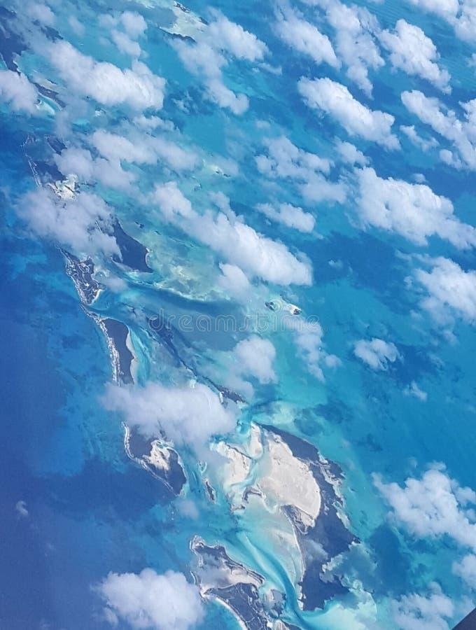 Le Bahamas aeree fotografie stock