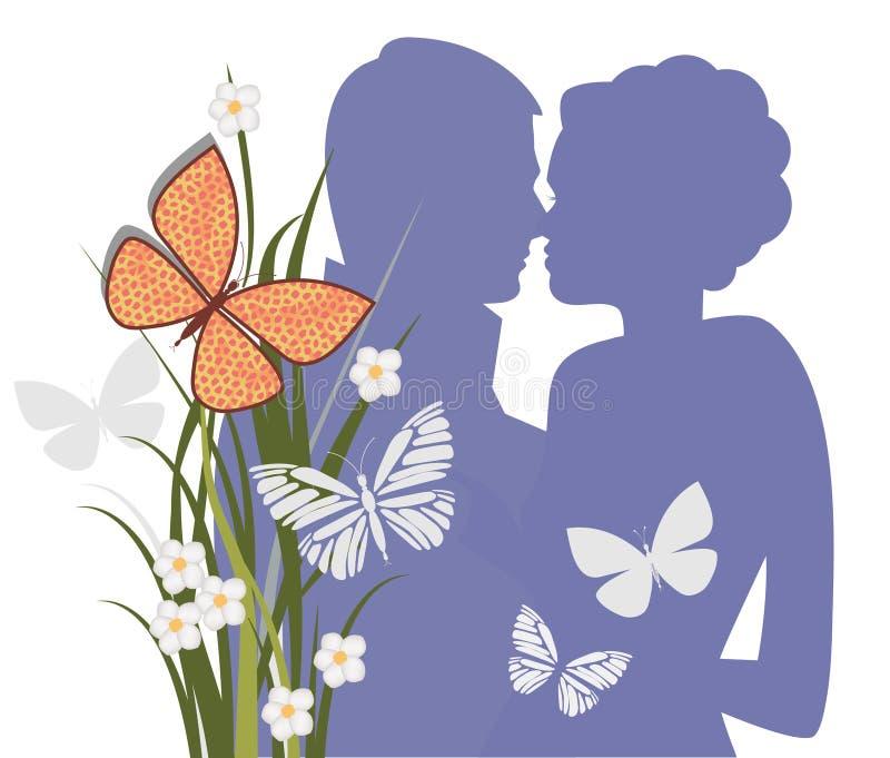 Le baiser illustration libre de droits