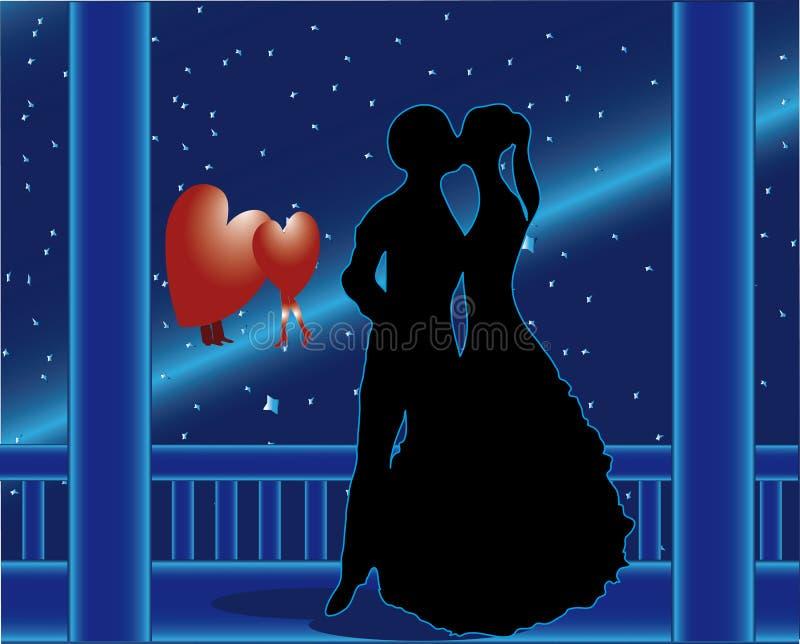 Amour de comète illustration de vecteur