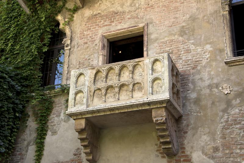 Le balcon de Romeo et de Juliet ? V?rone image stock