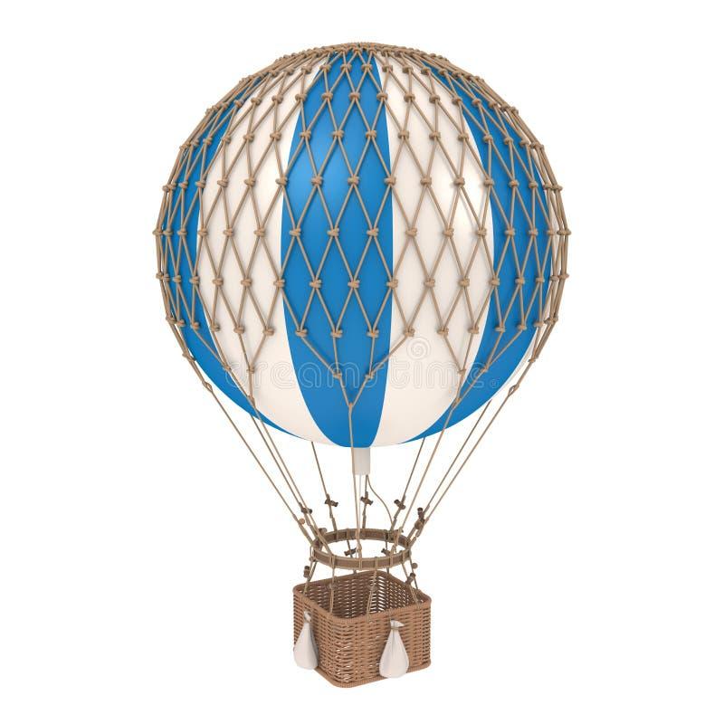 Le ballon à air chaud de cru a isolé illustration libre de droits