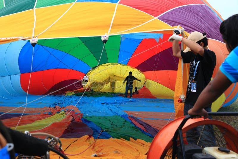 Le ballon à air chaud photgrphed chez le Bealton, fête aérienne de cirque de vol de VA images libres de droits
