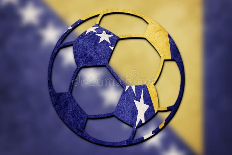 Le ballon de football Bosnie-Herzégovine nationale diminuent Footba bosnien photographie stock libre de droits