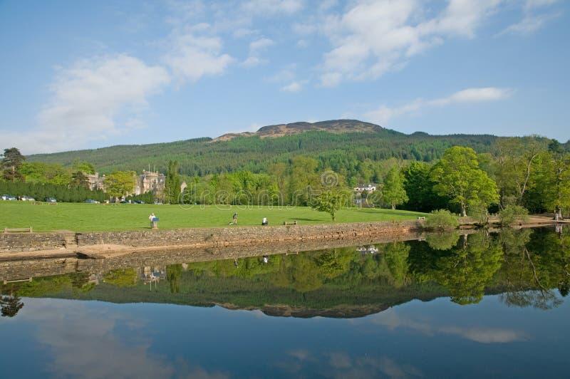 Le banche di Loch Lomond immagine stock