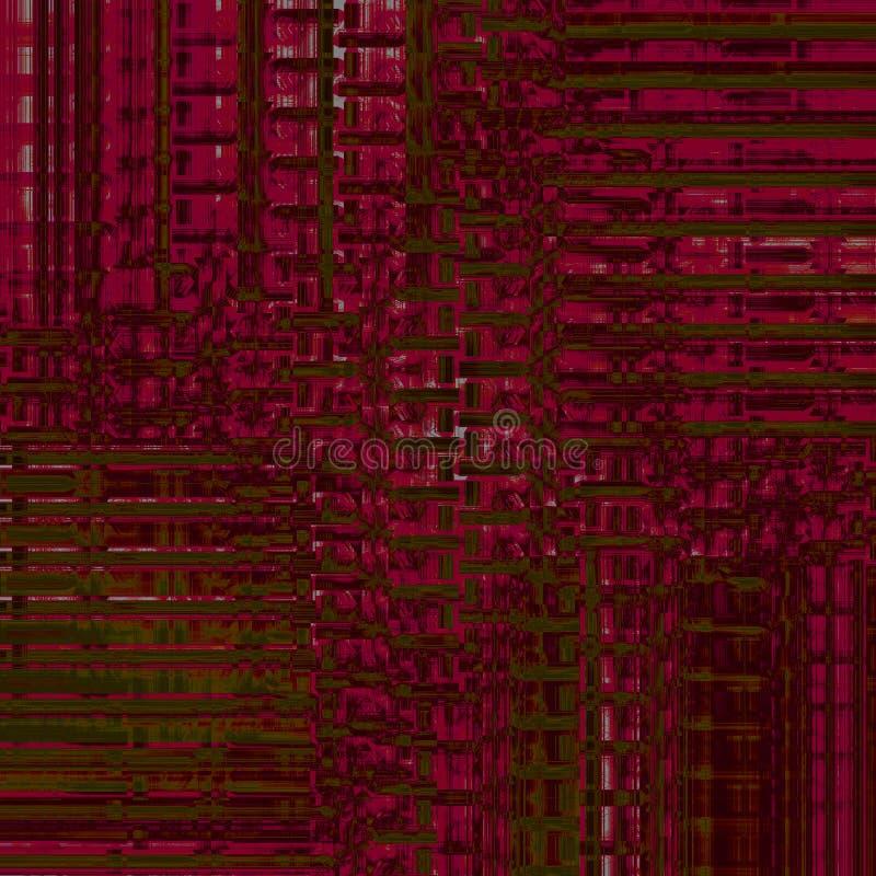 Le bande complesse modellano il verde verde oliva marrone rosso scuro spostato e dimensionale royalty illustrazione gratis