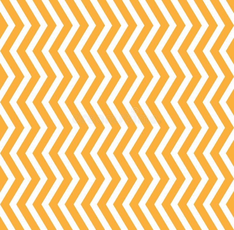 Le bande gialle e bianche di verticale intrecciante senza cuciture di zigzag strutturano il fondo royalty illustrazione gratis