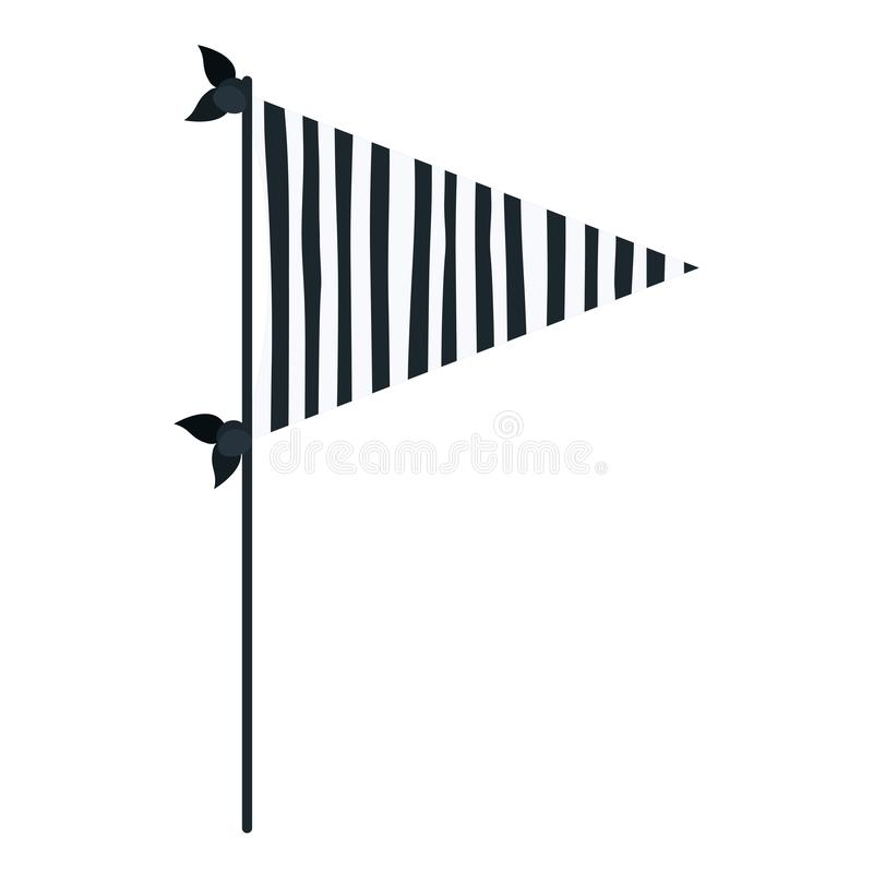 Le bandiere decorative della siluetta blu scuro di colore fanno festa con parecchie linee dentro per la celebrazione illustrazione vettoriale