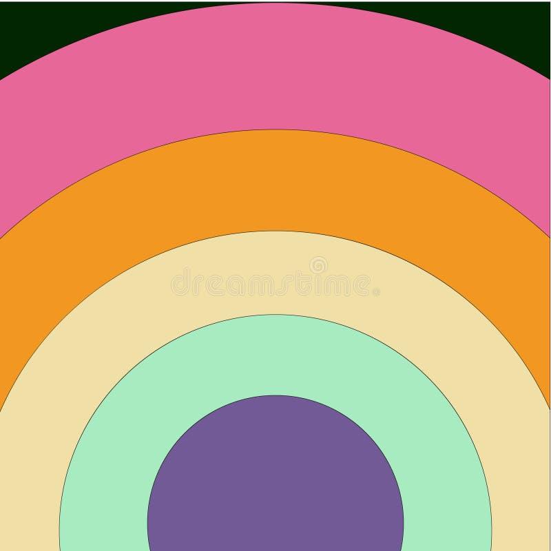 Le bandiere per si vanta ed altri eventi nella comunità di LGBT + arcobaleno colorato Pop art piano royalty illustrazione gratis