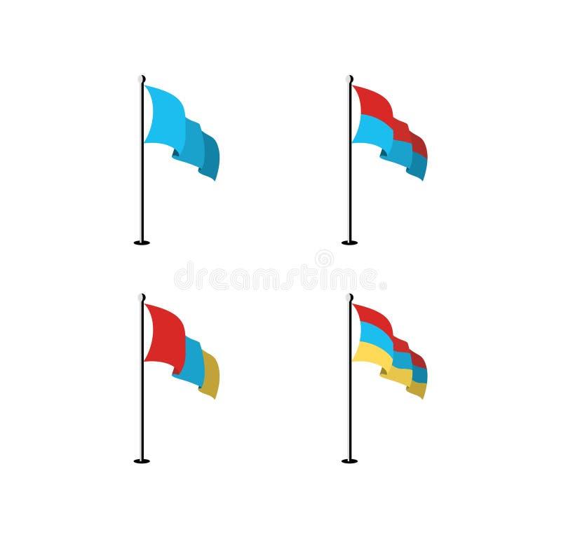 Le bandiere realistiche progettano il vettore royalty illustrazione gratis