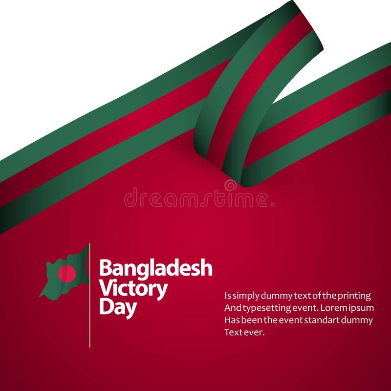 Le Bangladesh Victory Day Vector Design Illustration illustration libre de droits