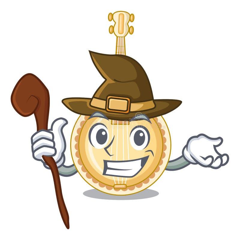 Le banjo de sorcière a été isolé dans le caractère illustration stock