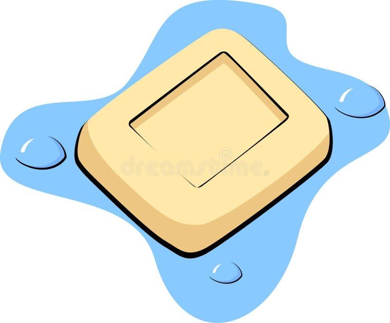 le bar bouillonne vecteur de savon d'illustration illustration stock