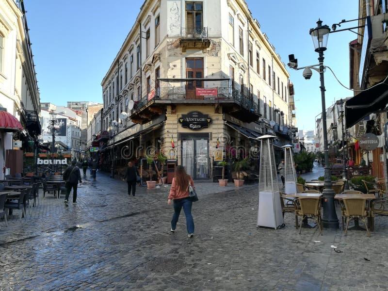 Le bar de vintage - Bucarest photographie stock