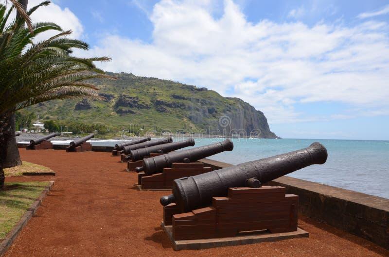Le Barachois w Denis, spotkanie wyspa, Francja fotografia royalty free