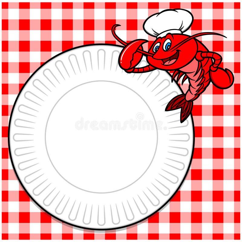 Le barbecue d'écrevisses invitent illustration libre de droits