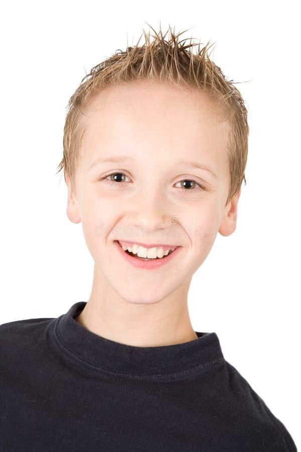 le barn för pojkestående royaltyfria foton