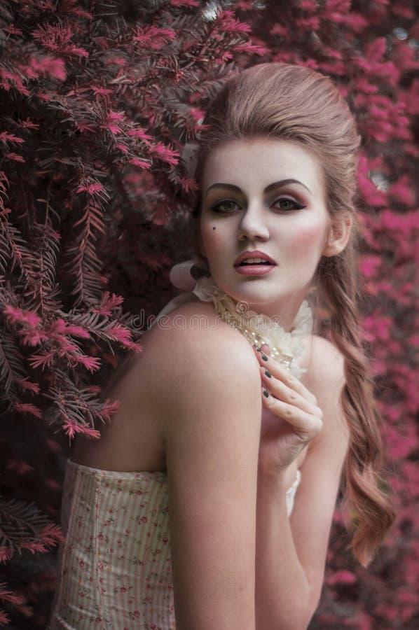 Le baroque de fille photographie stock