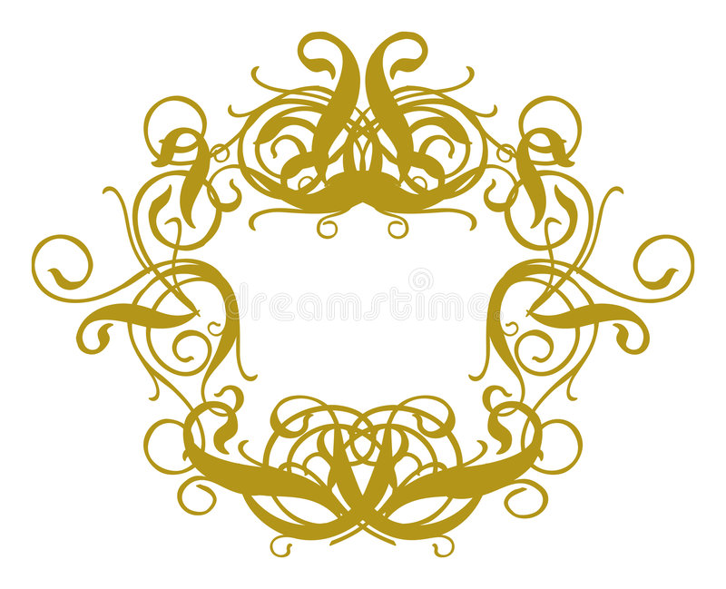 Le baroque II de trame illustration libre de droits