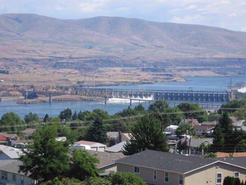 Le barrage de Dalles photo libre de droits