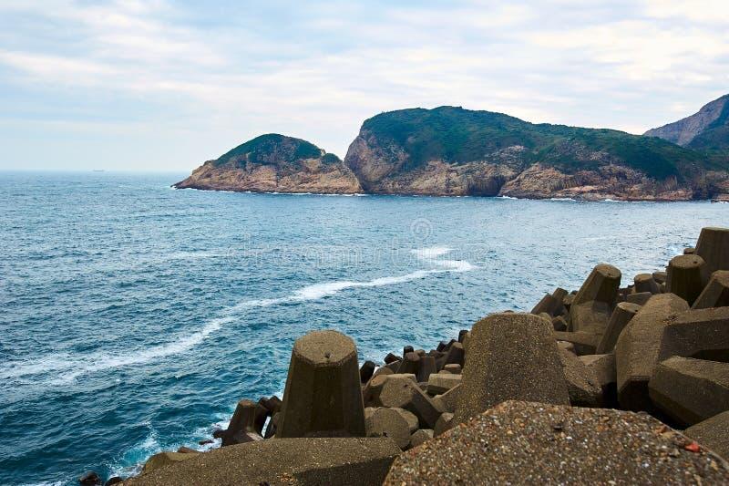 Le barrage est de haut réservoir d'île photo libre de droits
