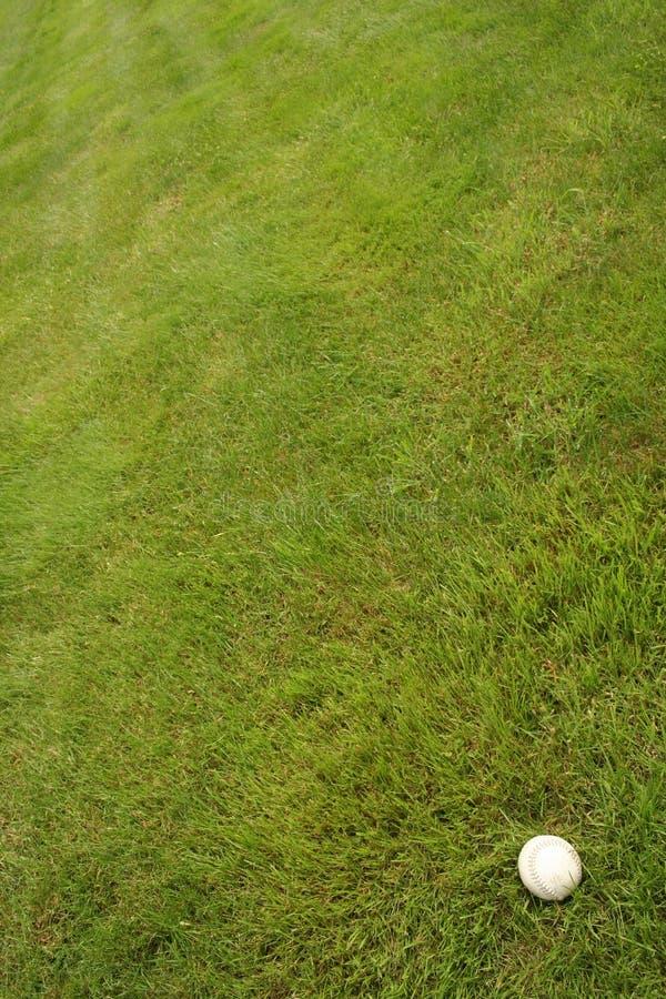 Le base-ball dans l'herbe image libre de droits