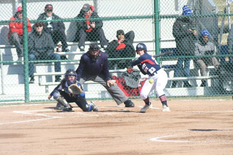 Le base-ball 2019-X X des femmes de SLU photographie stock libre de droits
