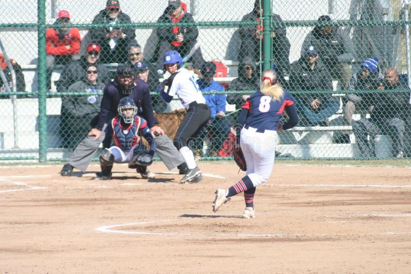 Le base-ball 2019-I I des femmes de SLU photographie stock