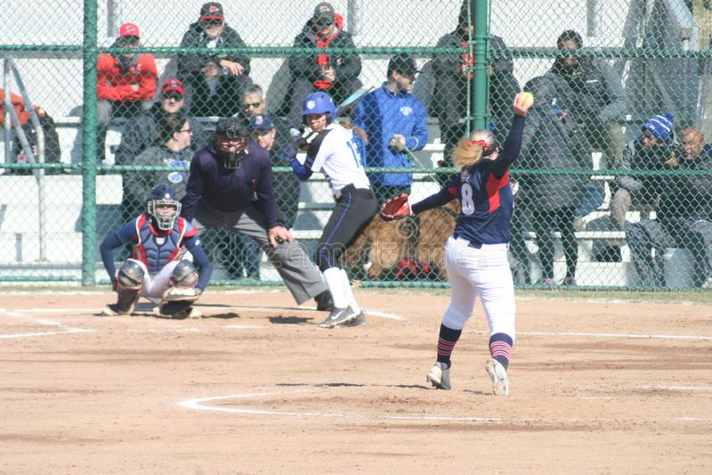 Le base-ball 2019-III III des femmes de SLU image libre de droits