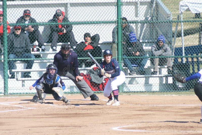 Le base-ball 2019-XIII XIII des femmes de SLU image libre de droits