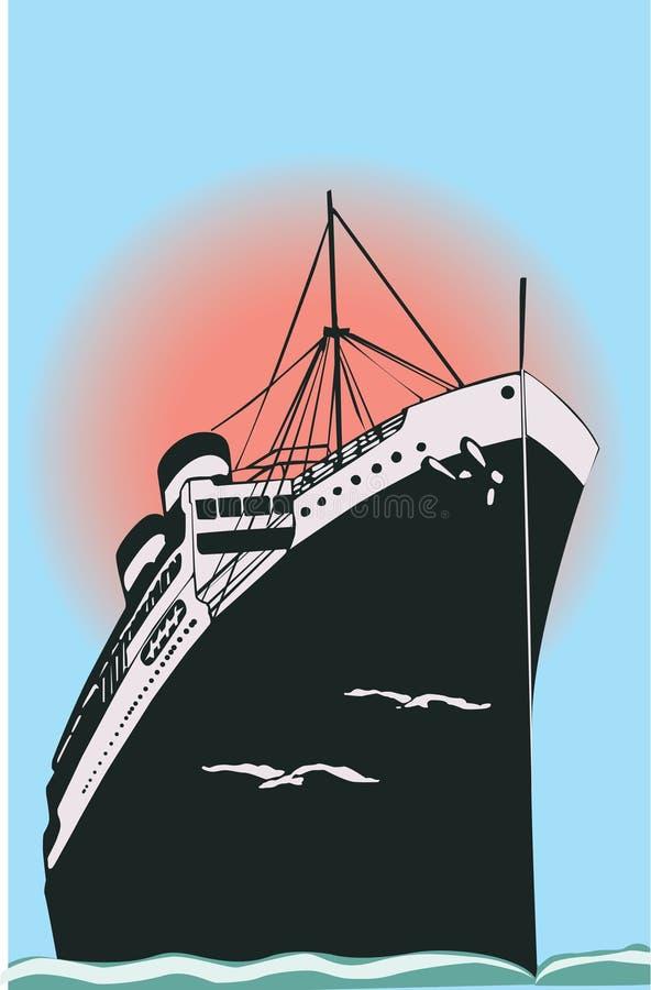 Le bateau illustration stock