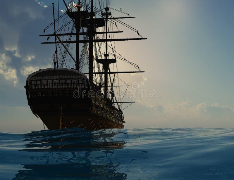 Le bateau antique image stock