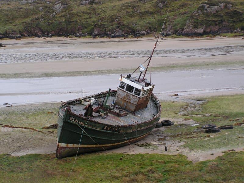 Le bateau d'ordinateur de secours images libres de droits