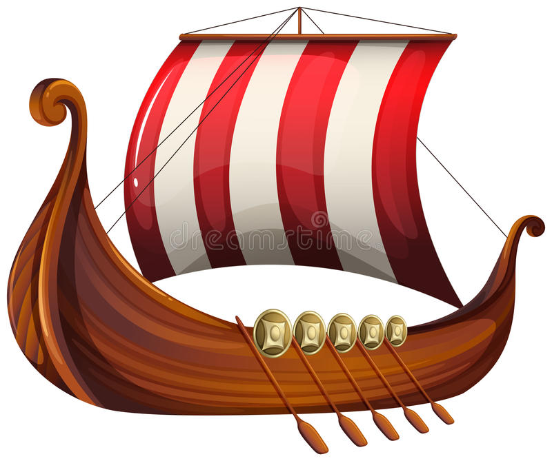 Le bateau d'un Viking illustration stock