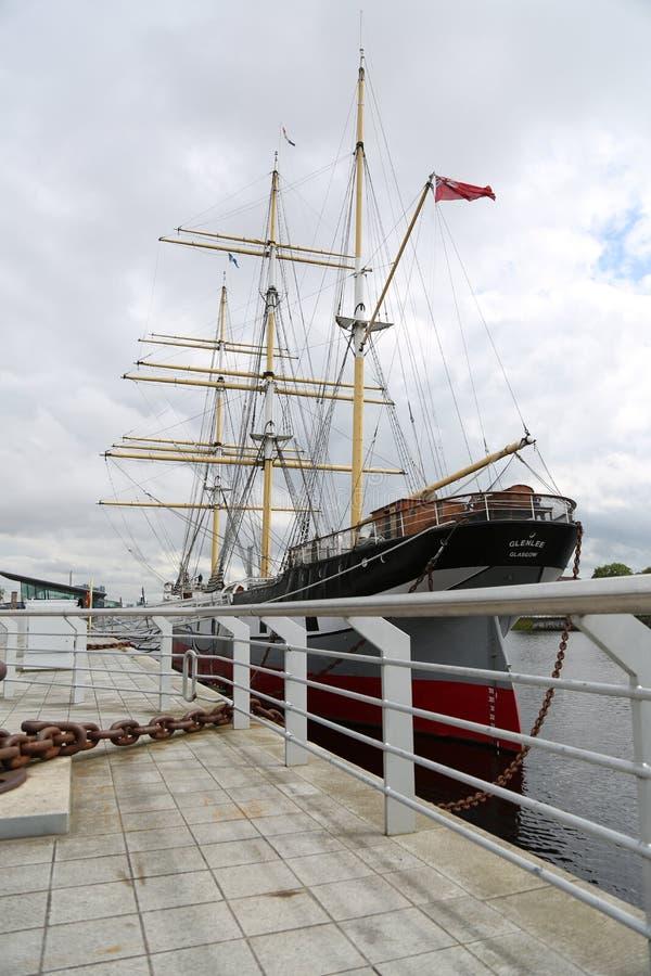 Le bateau de navigation Glenlee chez Clyde Quayside July 2017 photos stock