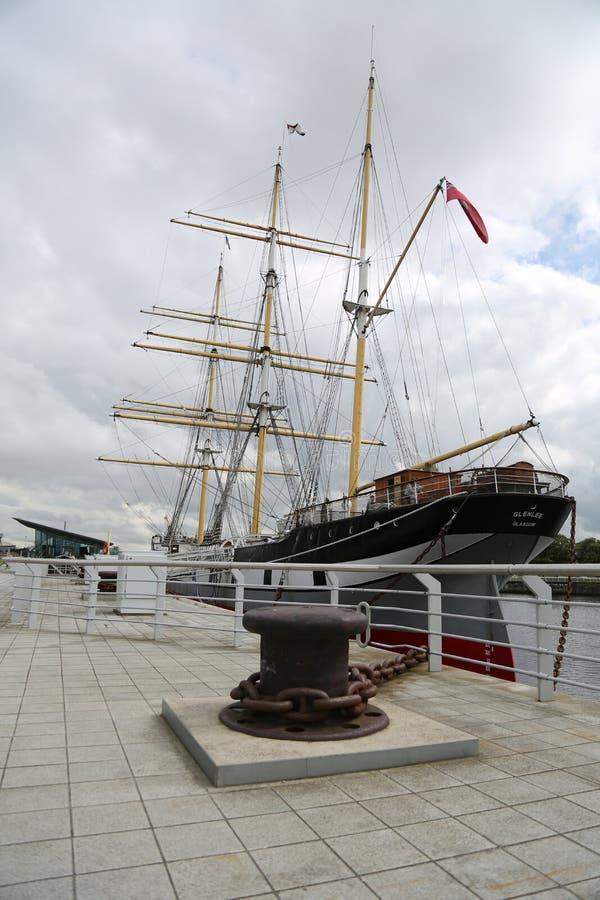 Le bateau de navigation Glenlee chez Clyde Quayside July 2017 image libre de droits