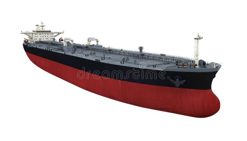 Le bateau de pétrolier a isolé illustration stock